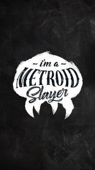 Metroid Slayer Phone Wallpaper (White) by samuelzea