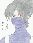 Kakashi Hatake portrait (colored) by SapphireAngelBunny