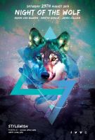 Night of the Wolf Flyer by styleWish