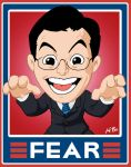 Stephen Colbert 'Fear' Sign by kevinbolk