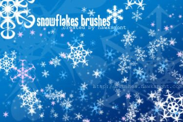 Snowflakes Brushes by hawksmont