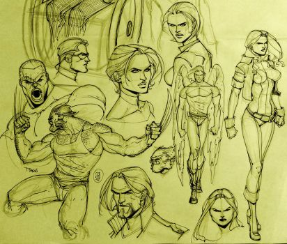 X - Men Sketches by taguiar