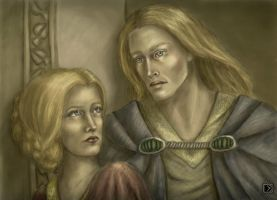 Galadriel and Finrod by Lena-Hyena