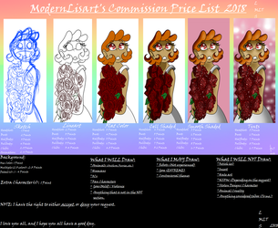 Commission Price List by ModernLisart 2018 by ModernLisart