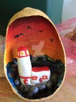 Lighthouse in a Gourd by lonesome-wolf-child
