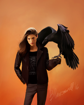 Ruby and raven by Blakravell