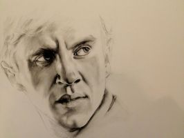 Malfoy Charcoal Drawing by Sampl3dBeans
