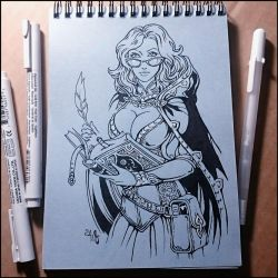 Sketchbook - Librarian by Candra