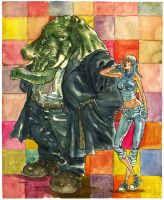 Ebony and Vanity by astrobrain