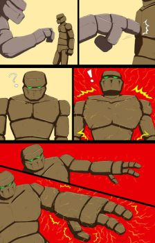Mike into Golem TF Comic page 23 by whiteguardian