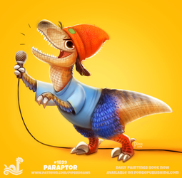 Daily Paint 1899# Paraptor by Cryptid-Creations