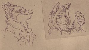 Traditional Cachet bust badges by CasFlores