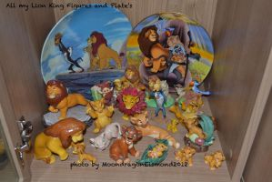All my Figures and Plate's - Lion King by MoondragonEismond