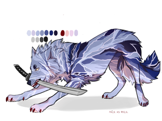 arctic wolf adotpt ( auction \\ closed ) by paleasmilk