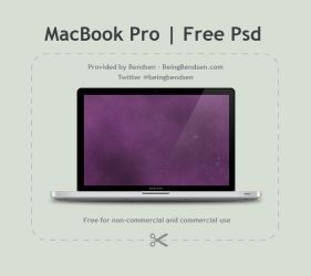 MacBook Pro Psd by Bendsen