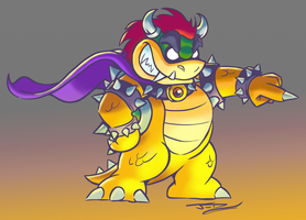 Caped Bowser by SovanJedi