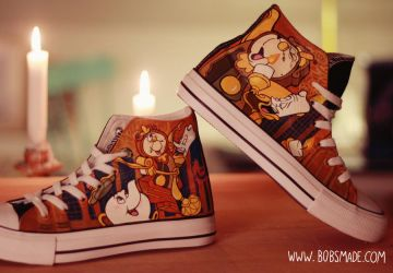 Beauty and the Beast Shoes by Bobsmade