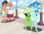 Busty Beach Babes by Sonson-Sensei