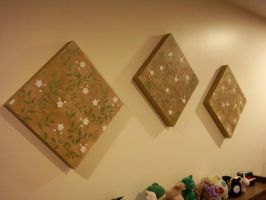 Floral Wall Art - Angled Shot by erin-c-1978