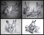 enormous nightmare for little rabbit by SatynaPaper