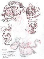 Cute Monsters inks by tombancroft