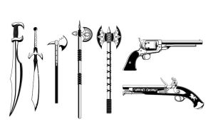 Detailed Vector Weapons Pack by artamp