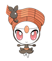 Meloetta -Pirouette Form- pokedoll label vector by yukimi2018