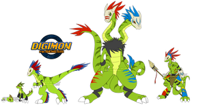 [digimon re:GEN] Iguamon Revamp by glitchgoat