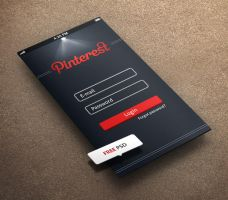 Pintrest Login for iPhone 5 Retina Ready FREE PSD by khaledzz9