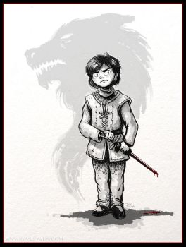 Arya Stark - Game of Thrones by RynoZebz