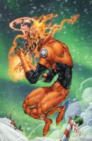 Larfleeze looking for Santa by drewdown1976