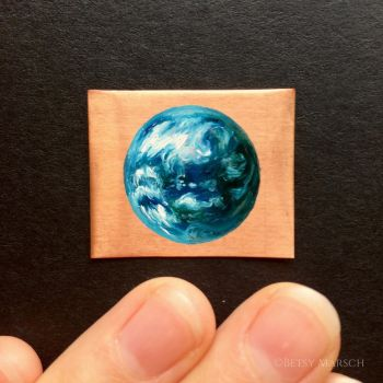 Tiny Earth on Copper by Paintsmudger