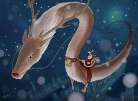 Rudolph, The Red-Nosed Dragon by takeclaire
