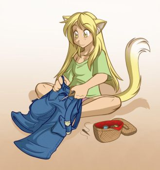 Catgirl Tailor by Twokinds