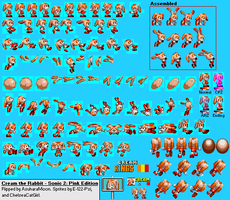 Cream the Rabbit (S2: Pink Edition) - Sprite Sheet by AsuharaMoon