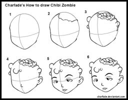 How to Draw Chibi Zombie by charfade