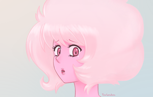 Pink Diamond's fluffly hair by Foxferatuu