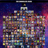 200 Characters by valkiriforce