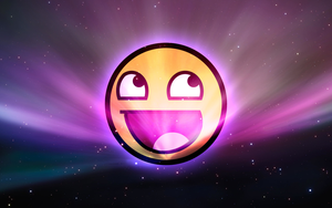 Awesome Face Space Wallpaper by I-AM-RESISTY