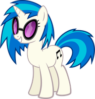 Vinyl Scratch - DJ Pon3 by namelesshero2222