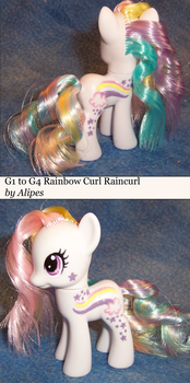 G1 to G4 Rainbow Curl Raincurl Custom Pony by Alipes