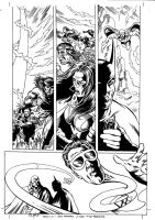 JLA 1999 ANNUAL ART NEVER PUBLISHED PAGE 5 by Johnny-Retro65