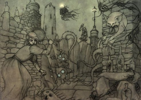 Hopeless, Maine RPG Spread 3 pencils by CopperAge