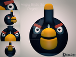 AngryBirds 3d Project  Black Bird by daniacdesign
