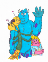 Because I don't draw enough Sulley by Cartuneslover16