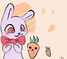 Bonnie and his carrot buddies by Mushi102