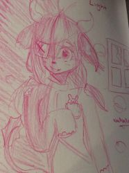 Sketch in sketch book by Pinkie---Dash