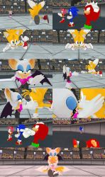[MMD] (comic) Tails VS Rouge by Jasalad