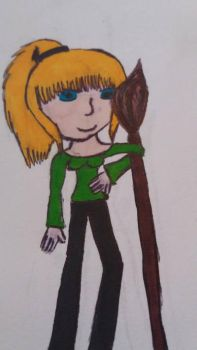 Cynthia with her broom  by asymmetrical-wings