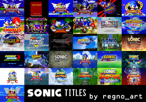 Sonic the Hedgehog titles (consoles) by regnoart